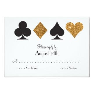 Cartão Ouro Las Vegas preto que Wedding o brilho do falso