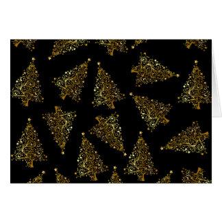 Cartão Ouro moderno elegante do preto do teste padrão da
