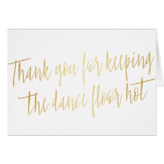 """Cartão Ouro """"obrigado você"""" para a aliança de casamento,"""