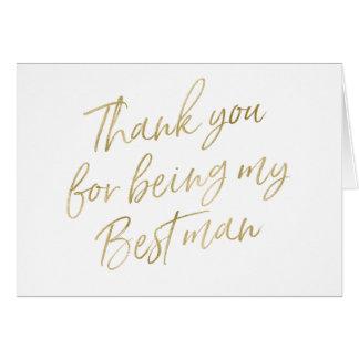 """Cartão Ouro """"obrigado você para meu ser o melhor homem """""""