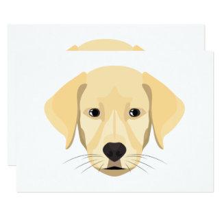 Cartão Ouro Retriver do filhote de cachorro da ilustração