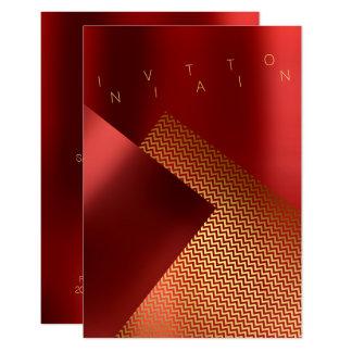 Cartão Ouro vermelho do rubi do metal conceptual de