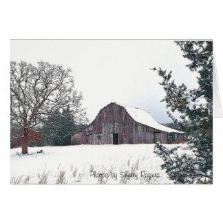 Cartão outeiros velhos Barn~ do ~The