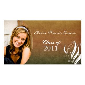 Cartão outonal do representante da graduação cartões de visita
