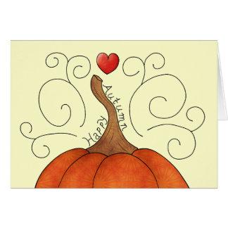 Cartão Outono feliz