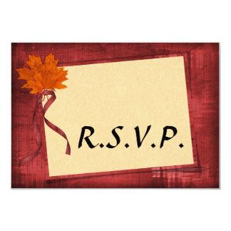 Cartão Outono que Wedding RSVP