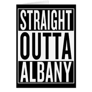 Cartão outta reto Albany