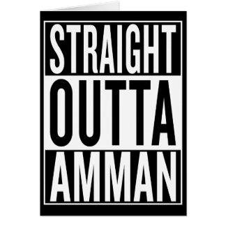 Cartão outta reto Amman