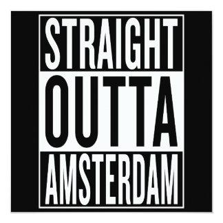 Cartão outta reto Amsterdão