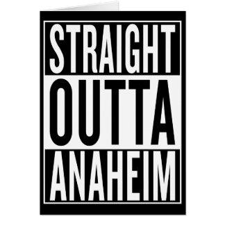 Cartão outta reto Anaheim