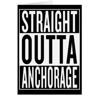 Cartão outta reto Anchorage