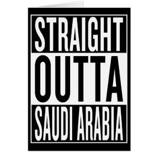 Cartão outta reto Arábia Saudita