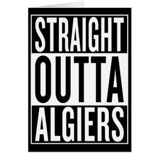 Cartão outta reto Argel