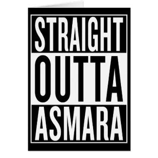 Cartão outta reto Asmara