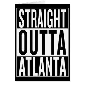 Cartão outta reto Atlanta