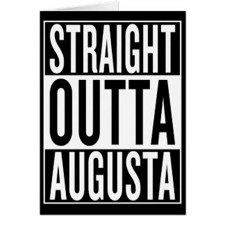 Cartão outta reto Augusta
