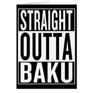 Cartão outta reto Baku