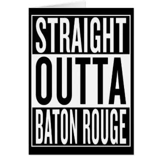 Cartão outta reto Baton Rouge