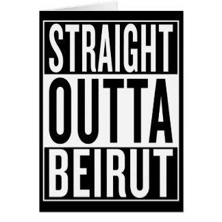 Cartão outta reto Beirute