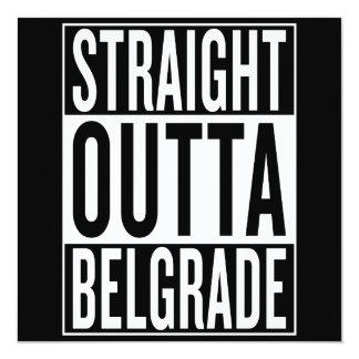 Cartão outta reto Belgrado