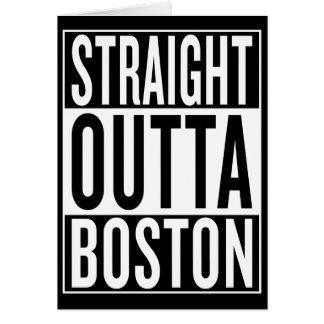 Cartão outta reto Boston