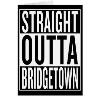 Cartão outta reto Bridgetown