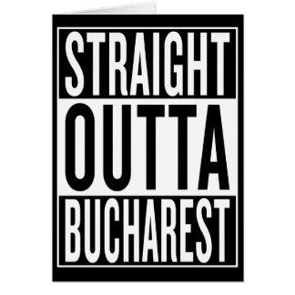 Cartão outta reto Bucareste