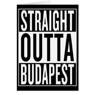 Cartão outta reto Budapest