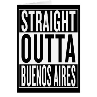 Cartão outta reto Buenos Aires