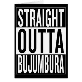 Cartão outta reto Bujumbura