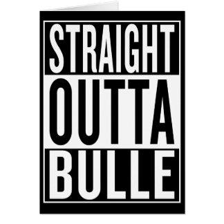 Cartão outta reto Bulle