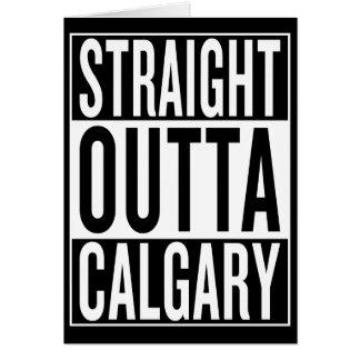 Cartão outta reto Calgary