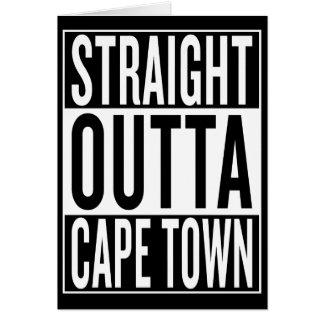 Cartão outta reto Cape Town