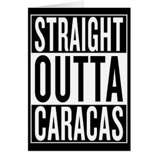 Cartão outta reto Caracas