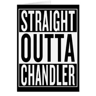 Cartão outta reto Chandler
