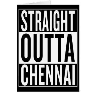 Cartão outta reto Chennai