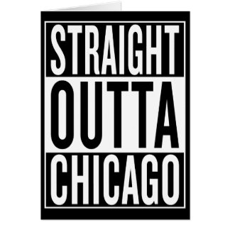 Cartão outta reto Chicago