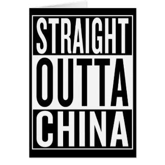 Cartão outta reto China