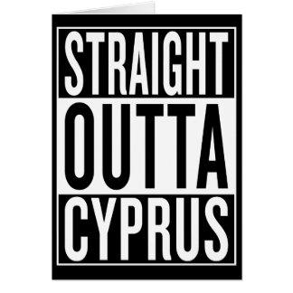 Cartão outta reto Chipre