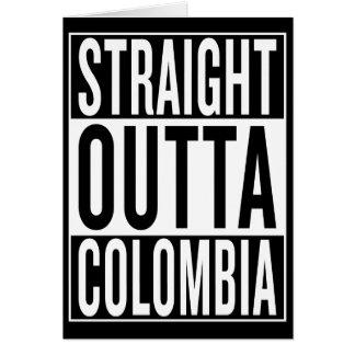 Cartão outta reto Colômbia