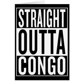 Cartão outta reto Congo