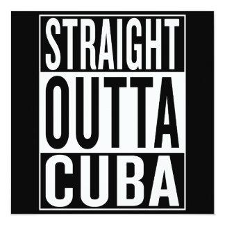Cartão outta reto Cuba