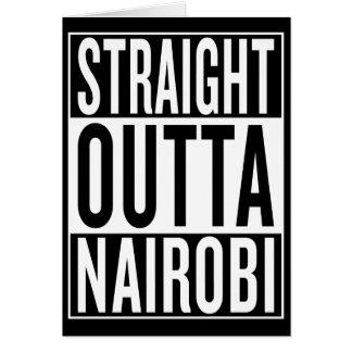 Cartão outta reto Nairobi