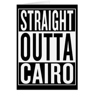 Cartão outta reto o Cairo