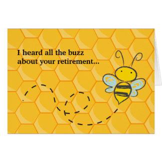 Cartão Ouviu toda a aposentadoria bonito da abelha do