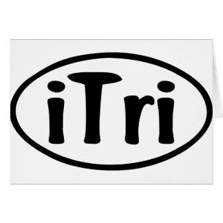 Cartão Oval do iTri