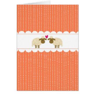 Cartão Ovelha do amor 2