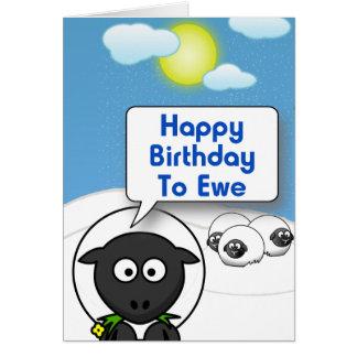 Cartão Ovelha do feliz aniversario 2