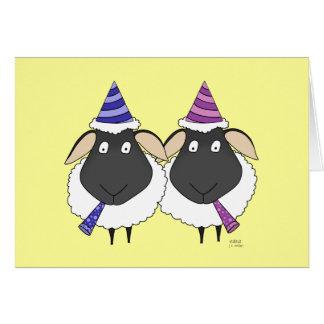 Cartão Ovelha do feliz aniversario dois!