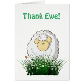 Cartão Ovelha do obrigado!